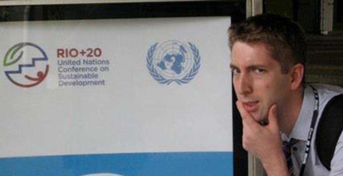 Daniel Hale at the Rio+20 UN Conference on Sustainable Development