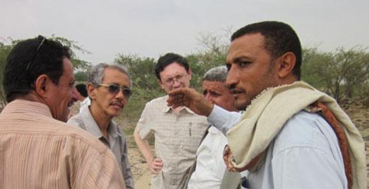 Progressio's Derek Kim meets Yemen farmers