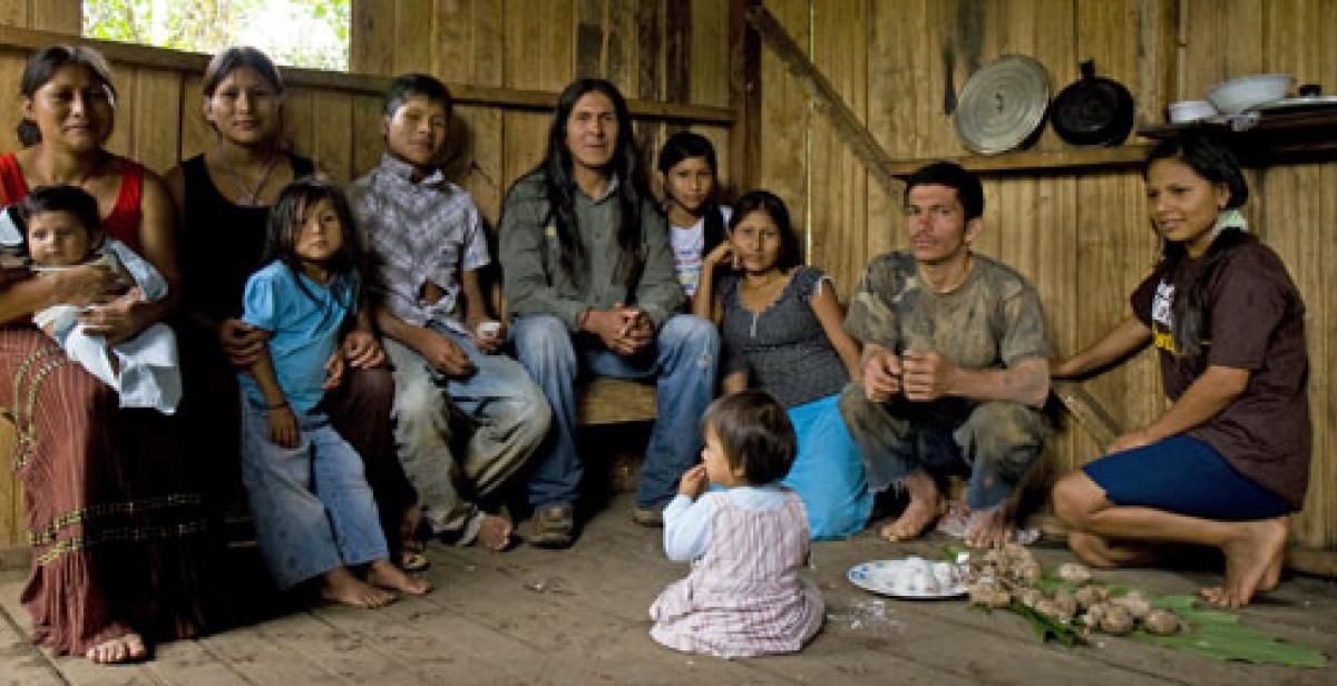 The Wajuyata family in Chiwitayo, Ecuador