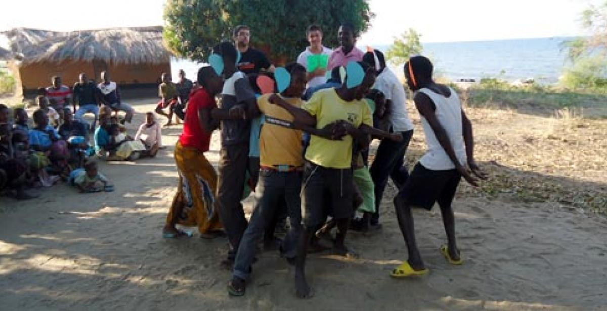 ICS Empower volunteers with young people from the Lozi community in Malawi