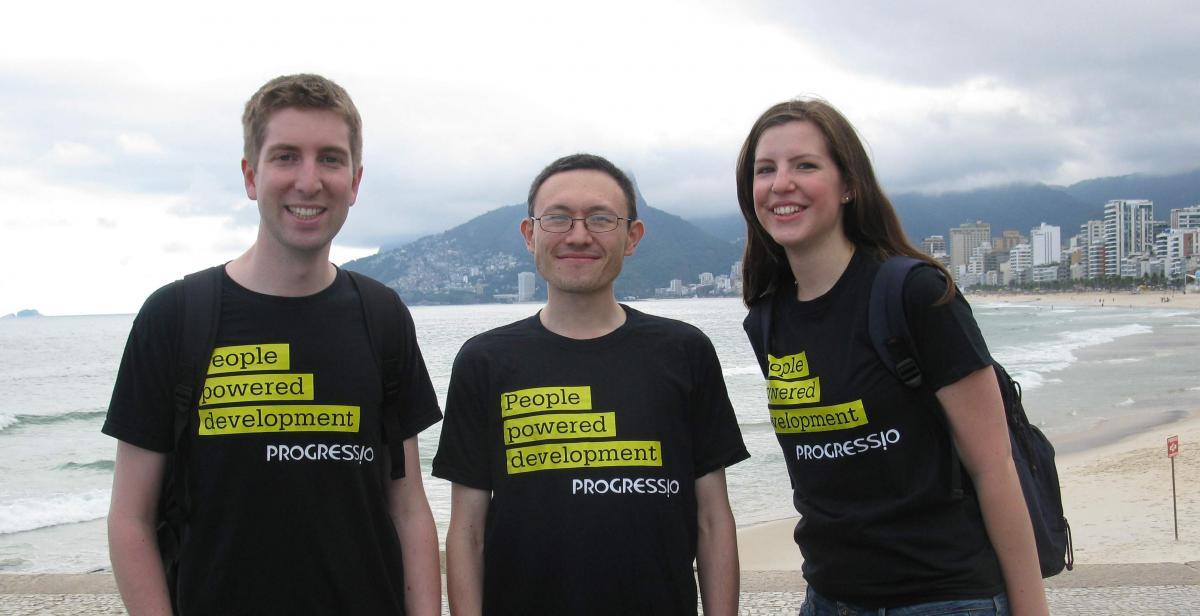 Daniel Hale, Derek Kim and Lis Martin at Rio