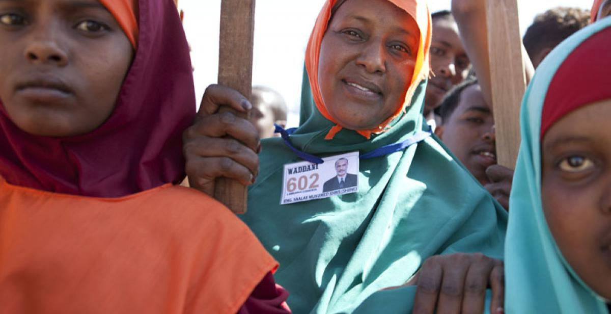 Women campaigning in Somaliland's local elections in November 2012