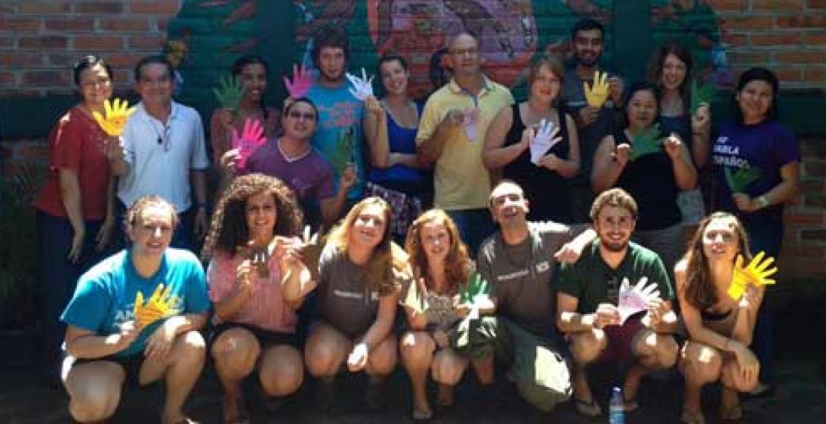 Volunteers at the language school in El Salvador