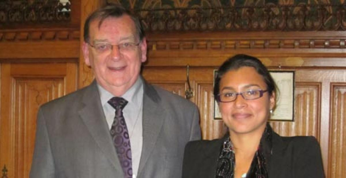 Lord Griffiths of Burry Port and Lizzette Robleto-Gonzalez