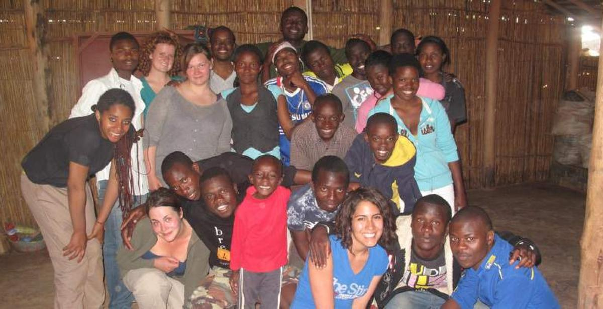 Volunteers and local young people in Mzuzu