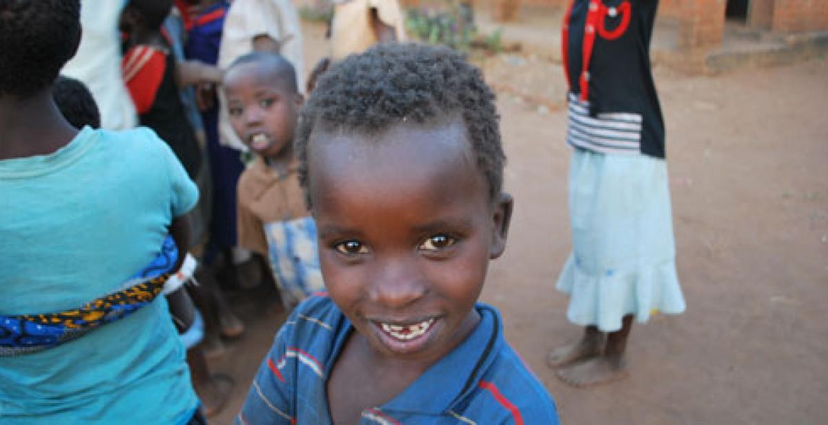 A boy in Malawi