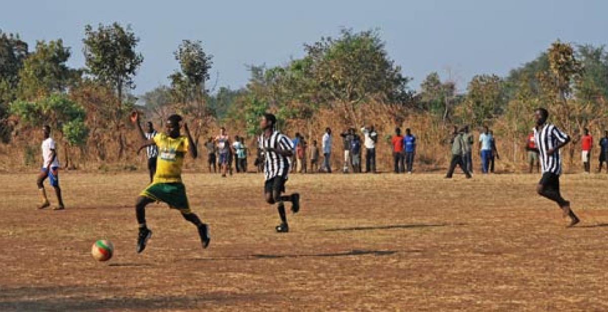 A football match in Malawi