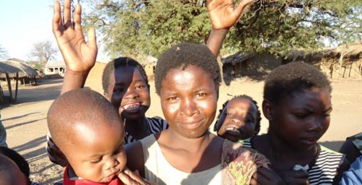Women and children in Malawi