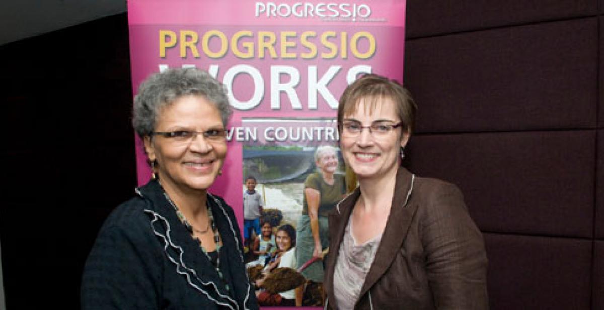 Michele Pierre-Louis and Christine Allen