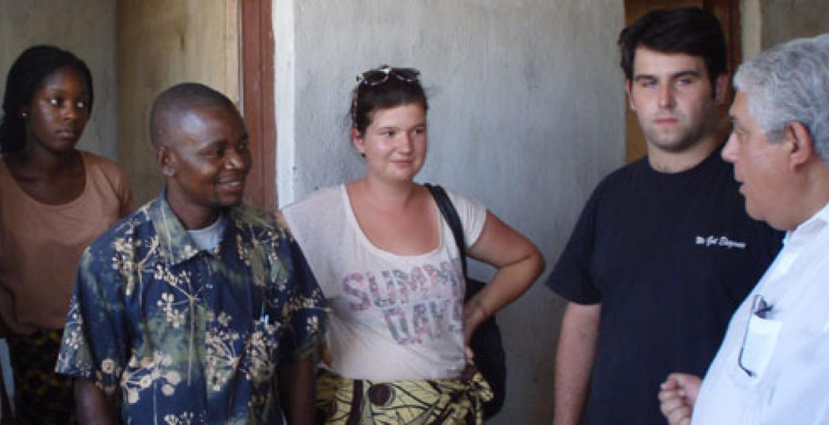 ICS volunteers with friends in Malawi