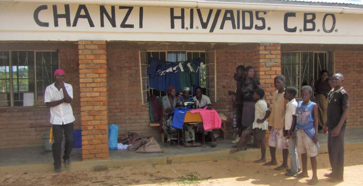 Outisde Chanzi HIV/AIDS Support group, Malawi