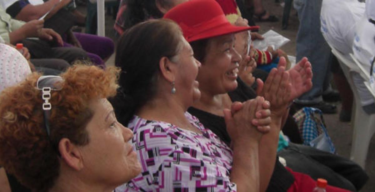 Women at community event in Peru