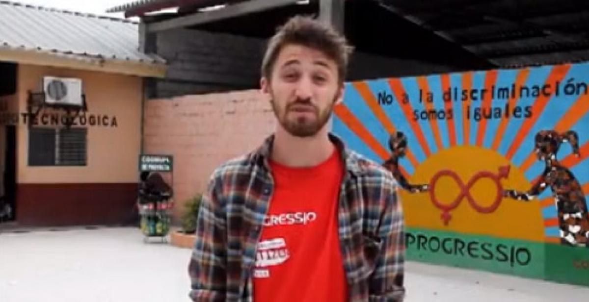 Picture of ICS volunteer in video