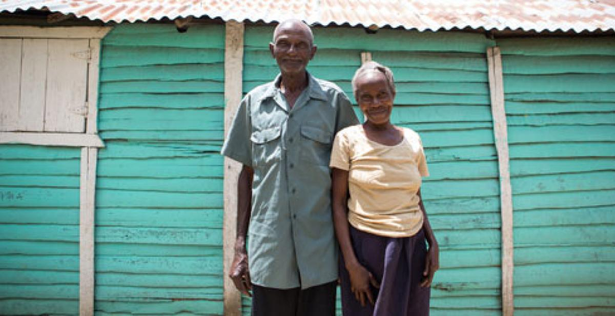 Placide and Marie-Jocelyne in Lamine Haiti