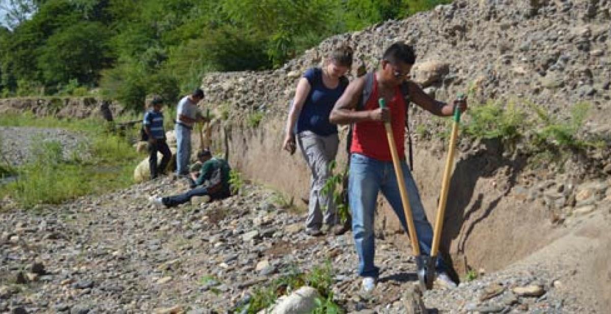 ICS volunteers working on reforestation in Nicaragua
