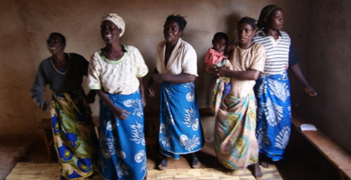 HIV community support group in Malawi