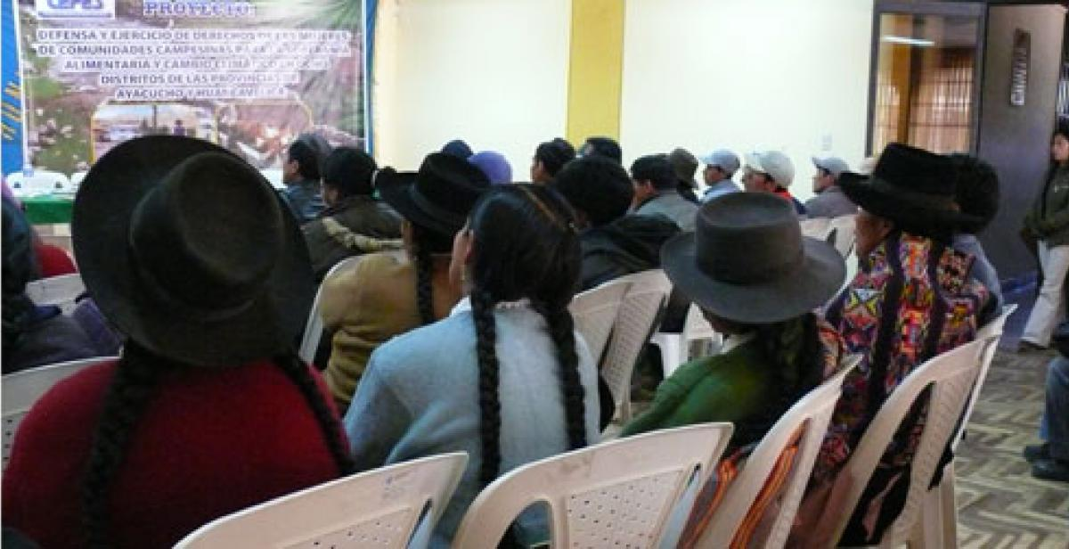Indigenous people at a climate change seminar