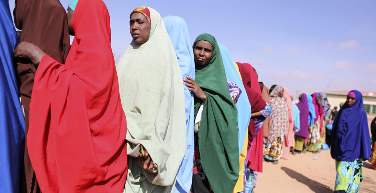 Women queuing to vote in Somaliland's local elections November 2012