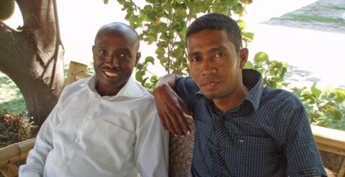 Progressio DW Benedict Mukamba and Apricio de Oliveira, Programme Coordinator at