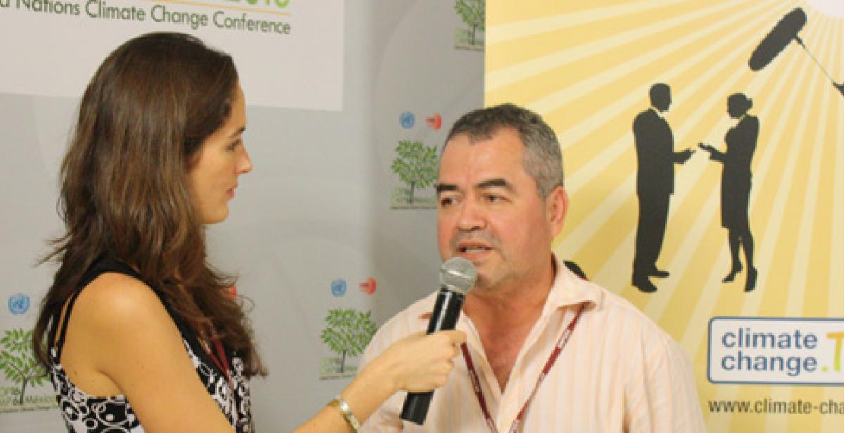 René Ramos is interviewed at Cancun