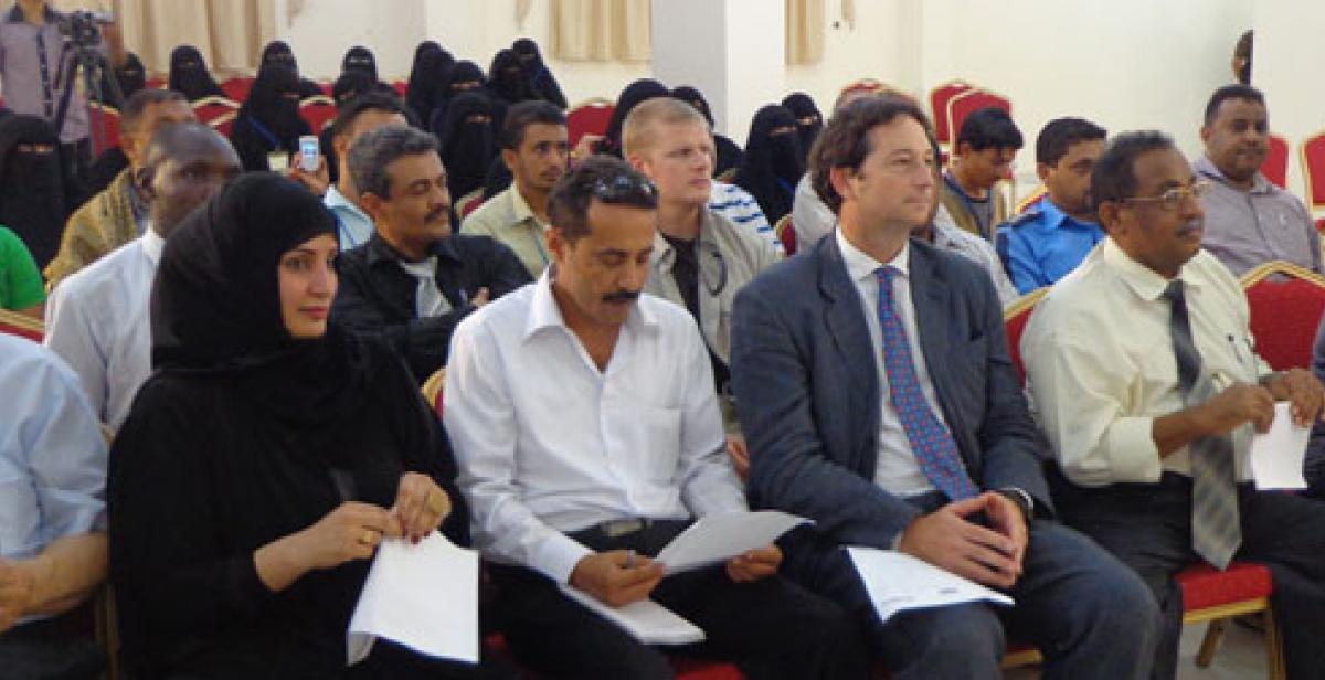 Meeting at workshop in Hodeidah