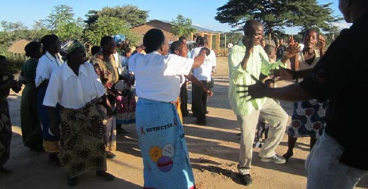 People dancing in Malawi