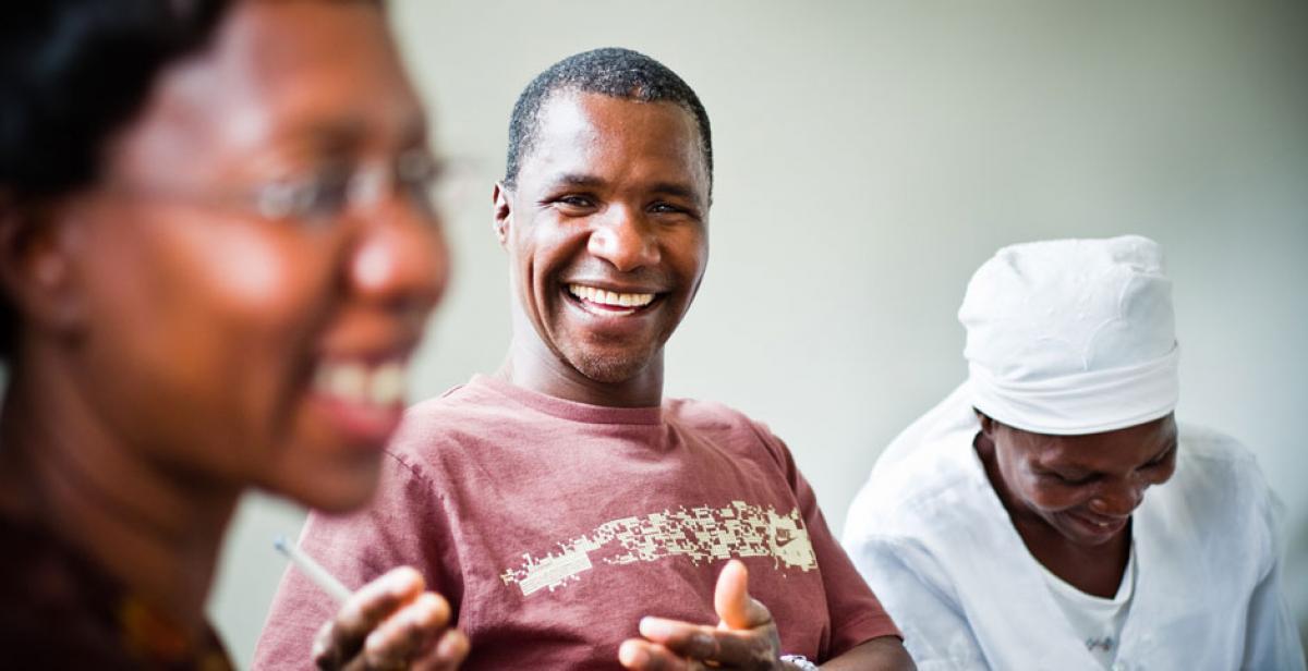 Philemon Handinahama, a development worker in Zimbabwe