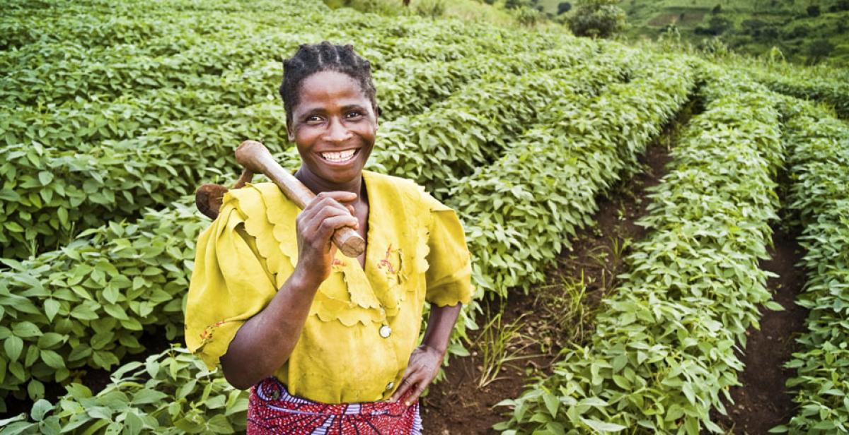 Angelina Ngoza, mother of six children, is a small-scale farmer in Malawi