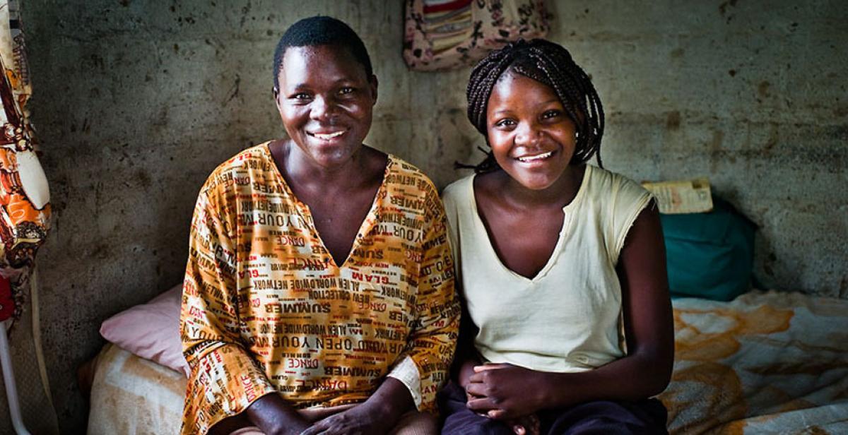 Irene Musarapasi and her daughter Tabeth in Zimbabwe