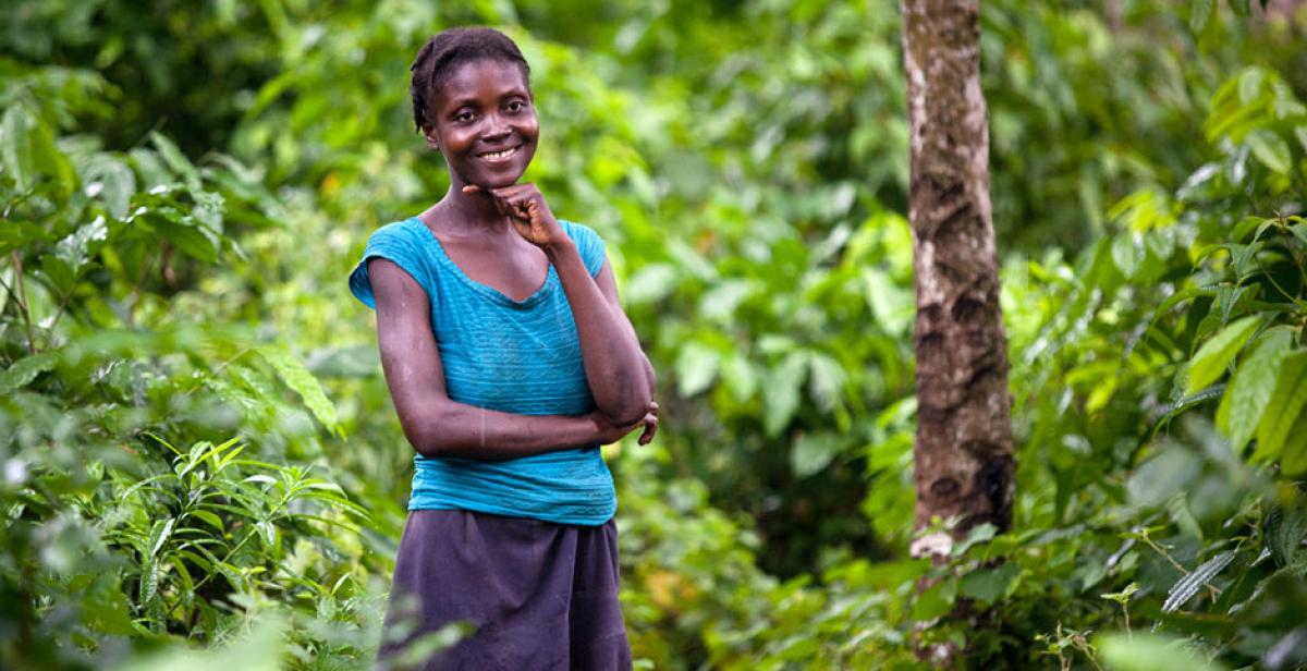 A young woman in Lamine, rural Haiti