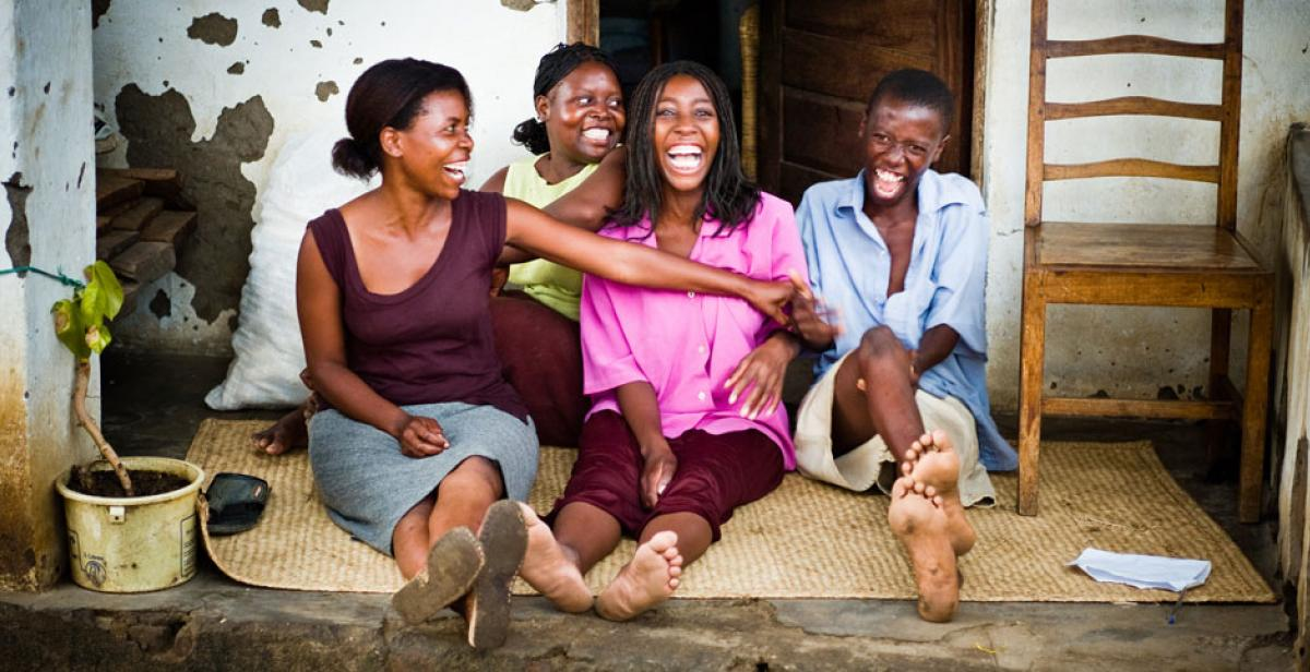 Young women in Malawi