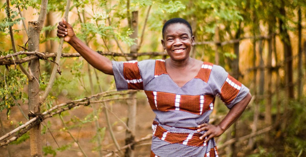 Small-scale farmer Gladys Gogwe