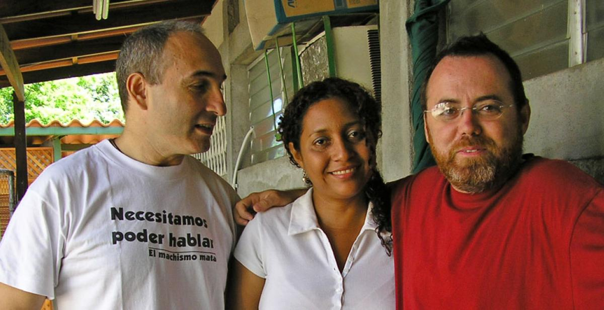 Former development worker Ernest Canada (right) with Marjourie Arostegui and Lui