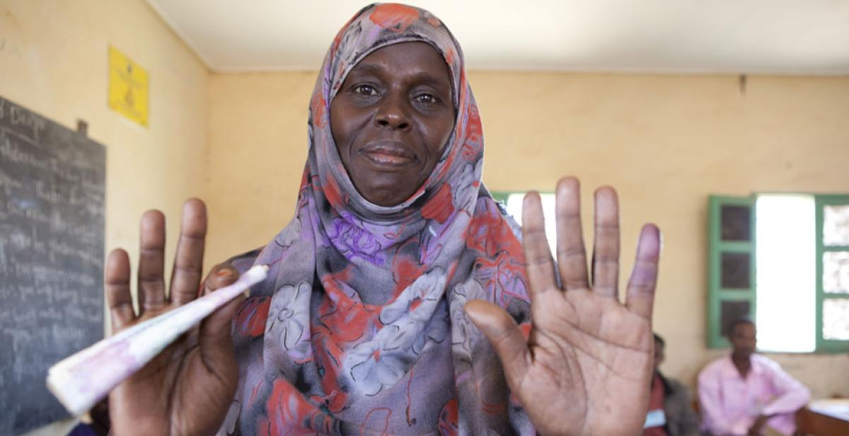 A woman voter in Somaliland