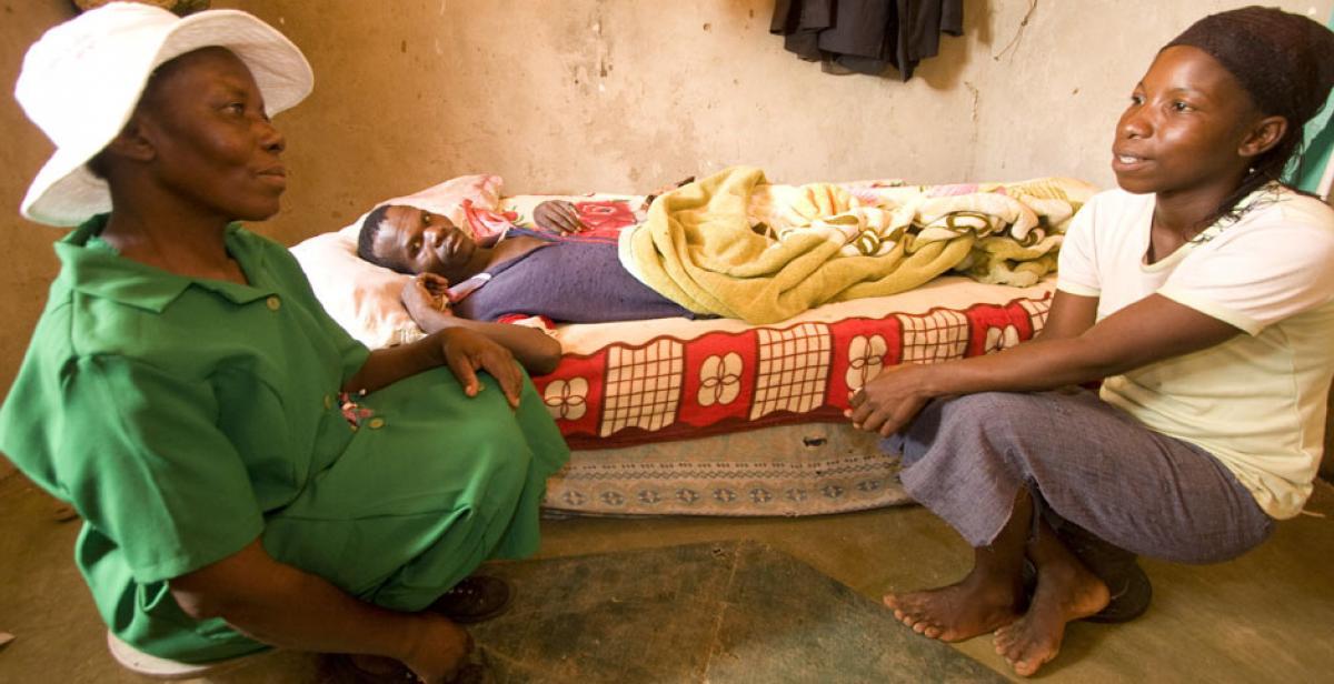 Sibongile Nkomazana visitiing Maxwell Mxncube and his wife Sukoluhle Sibanda