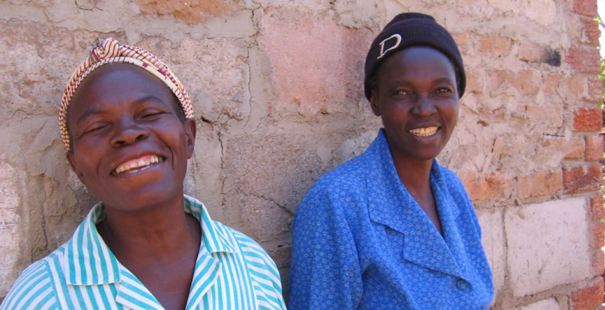 Members of an HIV support group in Zimbabwe