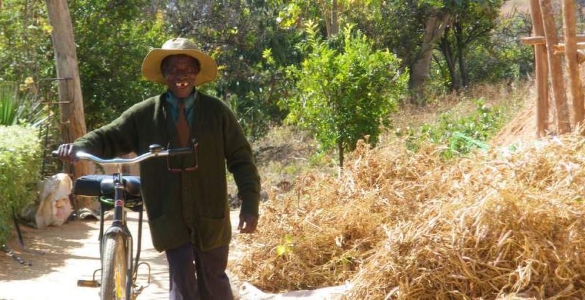 Mr Mutsamba with his bike