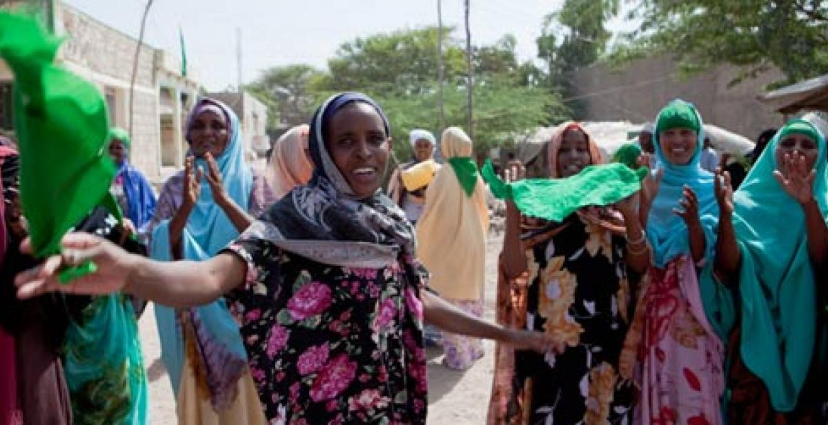 Women campaigning during Somaliland elections 2010