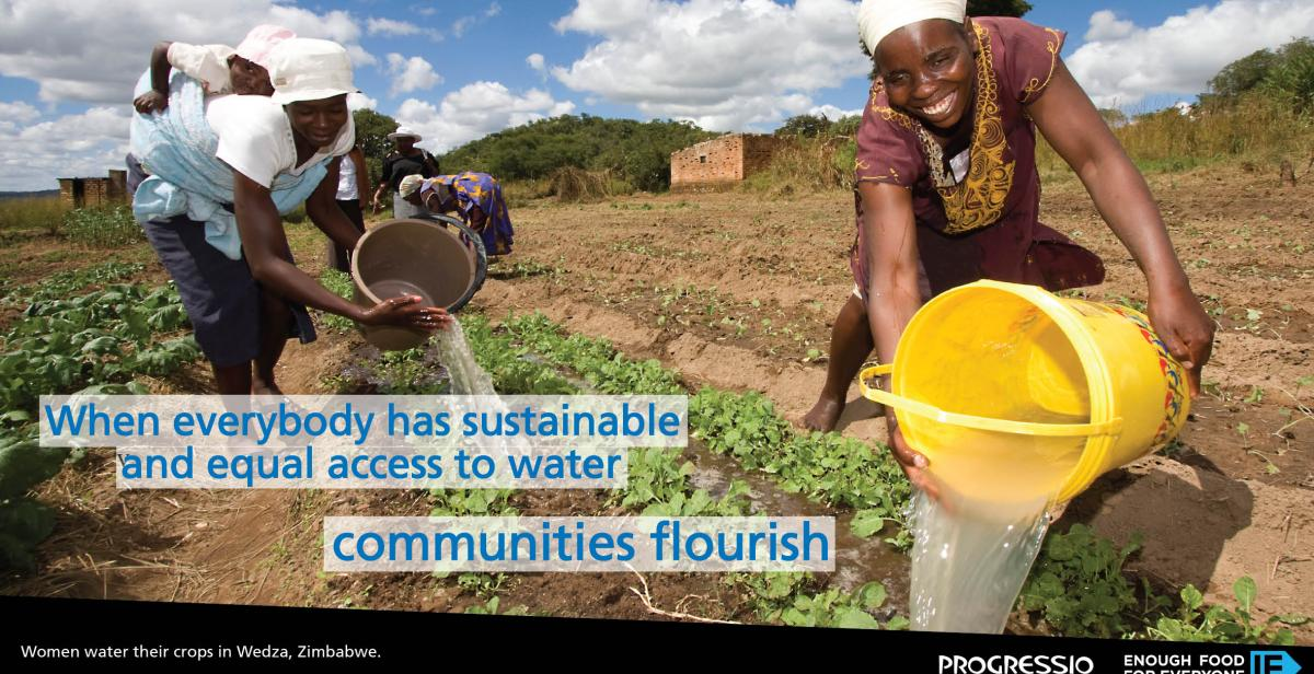 When everyone has access to water communities can flourish