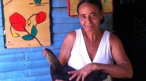 "Altagracia Ramona Franco, leader and member of the Mother Club ""Union y Esfuerzo"" in the Villa Esperanza community"