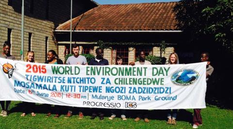 Mulanje Cedars' banner for advertising World Environment Day in the Boma