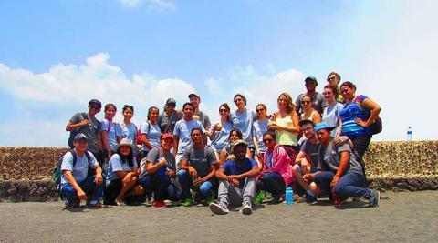 Group photo at Volcano of Masaya
