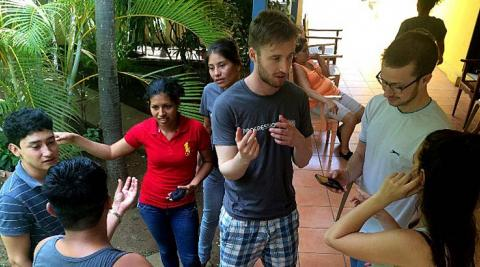Group activity in Nicaragua