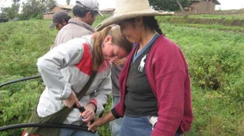 Development worker Sonja Bleeker