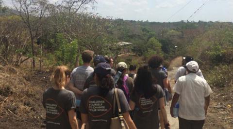 Volunteers visiting the community of La Sabanita
