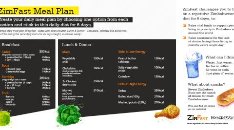 ZimFast meal plan