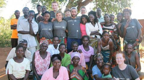 Team Nyenyezi with Wankhama community members