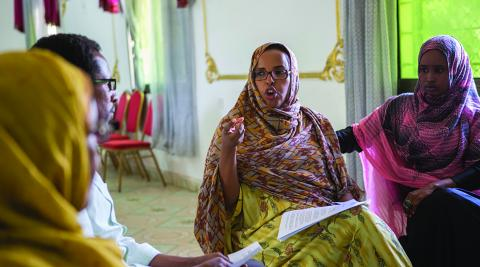 Research team meeting in Somaliland