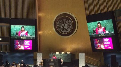 """I have been a victim but today I stand here to fight"", UNFPA gives the UN stage to female survivor"