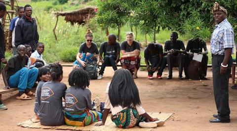 Meeting the Chief and the rest of the community in Mayotcha village